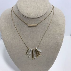 Stella dot delicate layered gold necklace